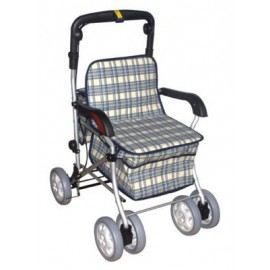 FZK238四輪車-鋁製散步車(有扶手)