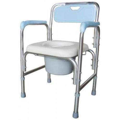 FZK4316鋁製便器椅-無輪固定