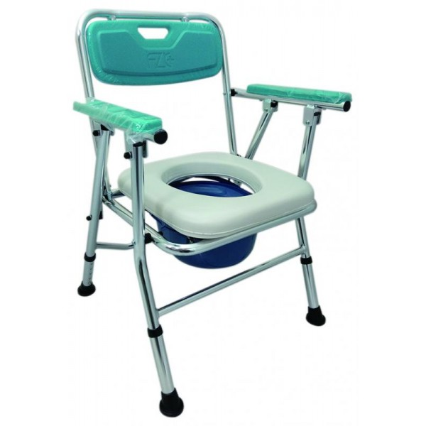FZK-4527 鋁製收合便盆椅(可調高低)