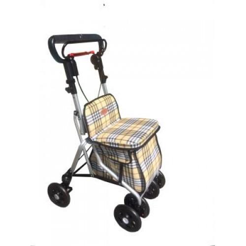 FZK680四輪車-鋁製散步車(格子)