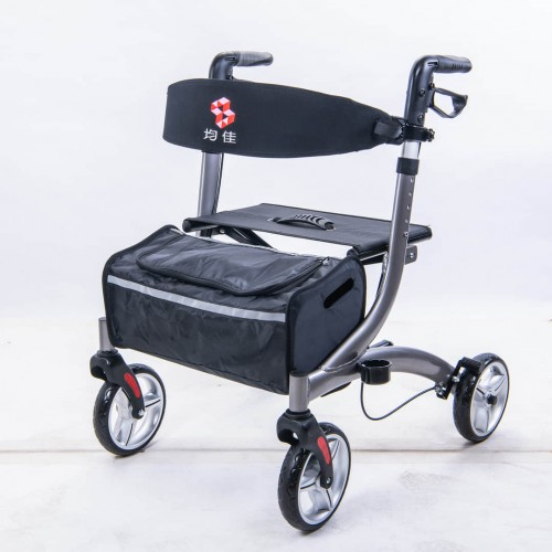 均佳JK-007鋁合金四輪助行車/助步車  歐式健走型