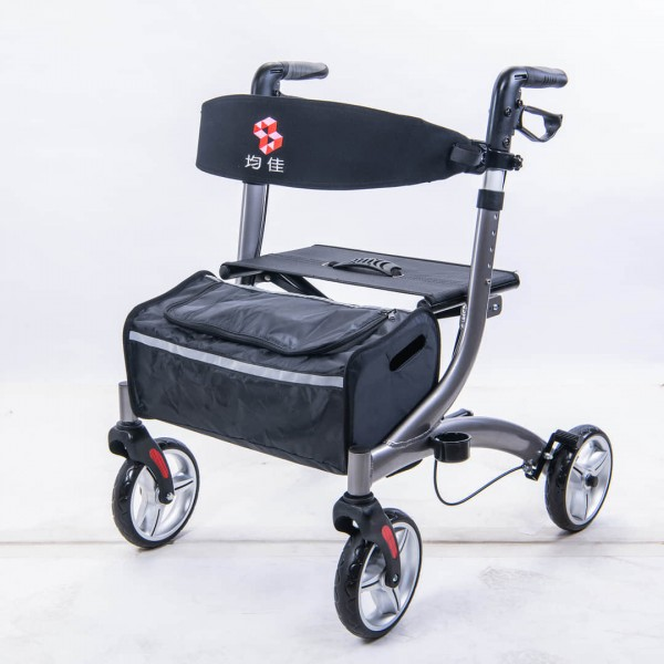 均佳JK-007鋁合金四輪助行車  歐式健走型