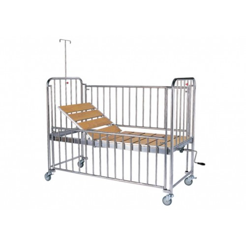 YH021 二折一搖桿兒童病床