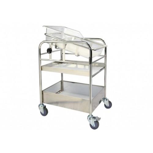 YH023 不鏽鋼嬰兒床(可傾斜)