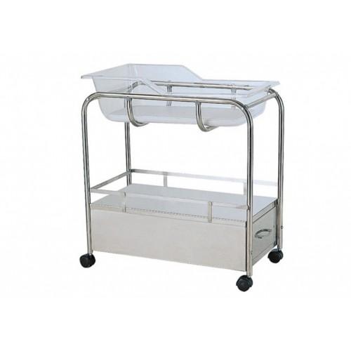 YH024 不鏽鋼嬰兒床(附抽屜)