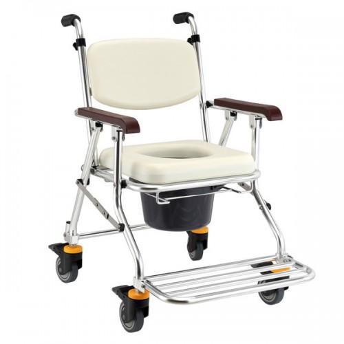 均佳 JCS-208 鋁合金可收合有輪洗澡便器椅