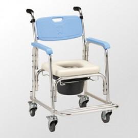 均佳 JCS-205 鋁合金有輪洗澡便器椅
