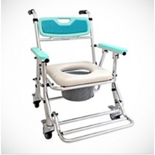 FZK4542鋁合金便器椅-附輪收合