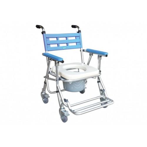 YH121-3 鋁合金收合式便器椅(有輪/高低可調)