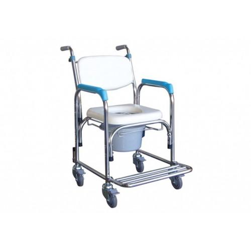 YH125-1 不鏽鋼洗澡椅(軟背/把手)