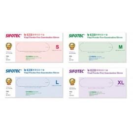 SIFOTEC PVC 無粉塑膠檢診手套 S、M、L、XL