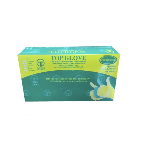TOP  PVC 無粉塑膠檢診手套 S  (10盒免運特惠)